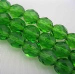 Czech Fire Polished Beads - 8mm - Green (25)